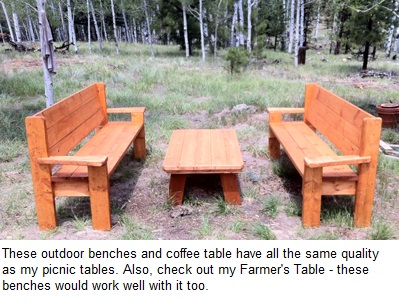 Bob s QUALITY Picnic Tables and Outdoor Furniture